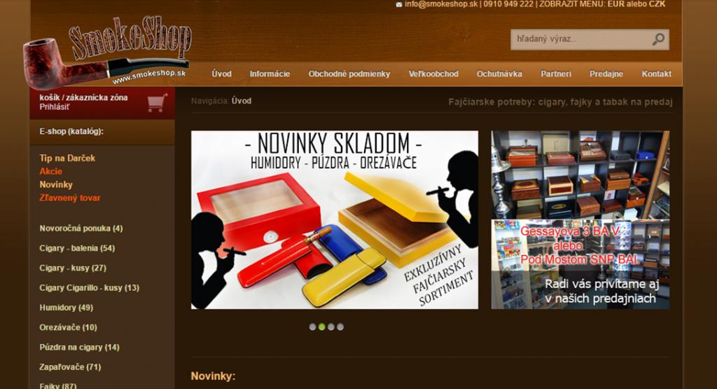 SmokeShop web